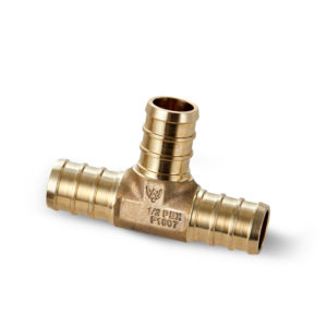 "1/2"" Brass PEX TEE Water Armor made with ECO Bronze"